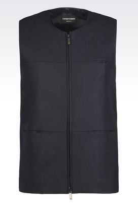 Armani Gilets Men gilet in wool