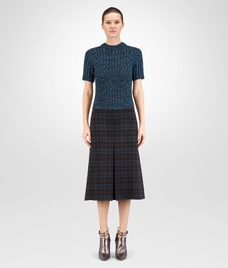 DRESS IN NERO PEACOCK LUREX WOOL