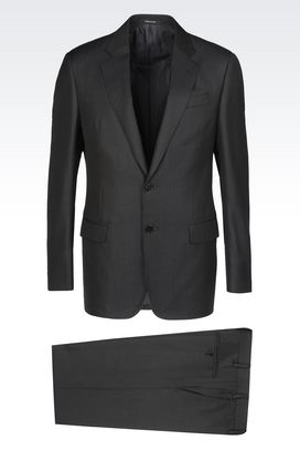 Armani Suits Men soft wool and silk suit