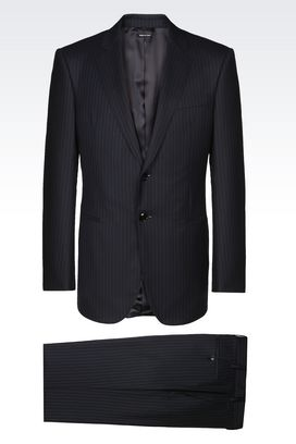 Armani Suits Men wall street pure wool suit