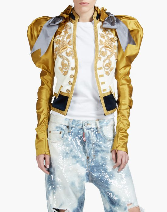 heraldic embroidered jacket coats & jackets Woman Dsquared2
