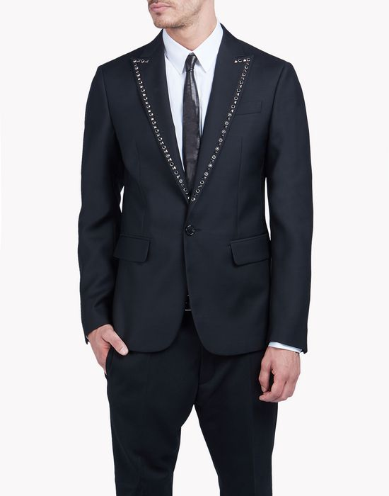 studded sharp blazer coats & jackets Man Dsquared2