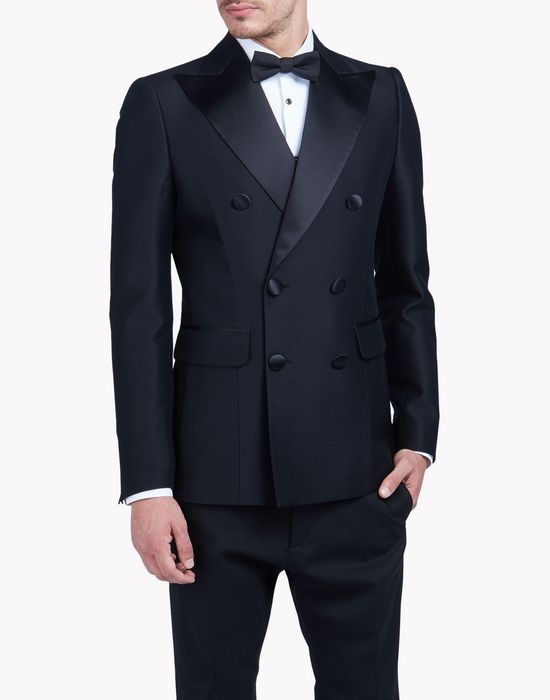 silk lapel wool blazer coats & jackets Man Dsquared2
