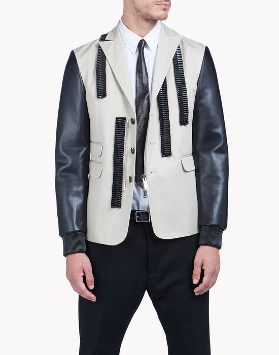 leather ruffle blazer coats & jackets Man Dsquared2