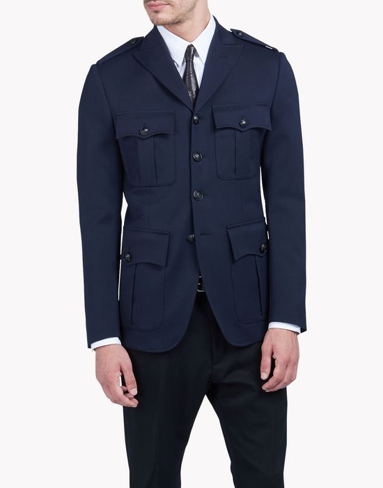 military wool jacket coats & jackets Man Dsquared2