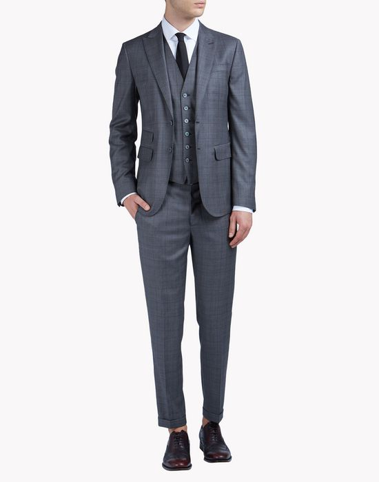 slim-fit wool checked london suit suits Man Dsquared2