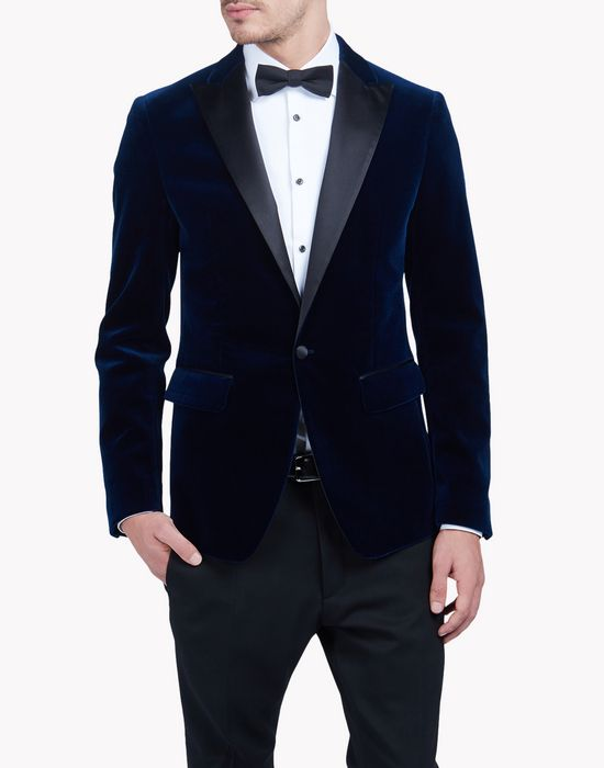 velvet blazer coats & jackets Man Dsquared2