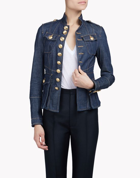 livery denim jacket coats & jackets Woman Dsquared2