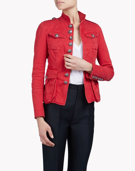 livery cotton jacket coats & jackets Woman Dsquared2