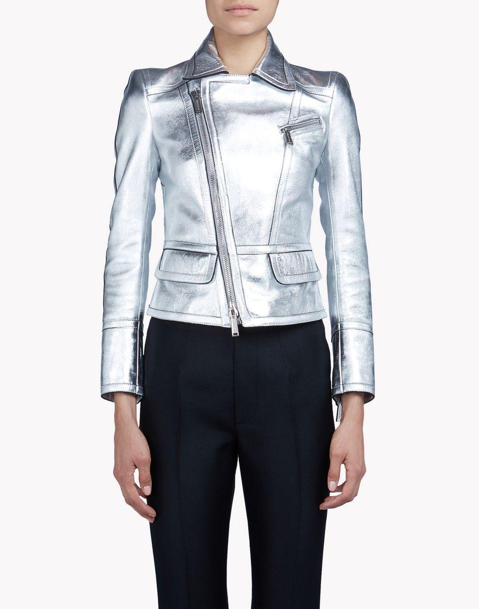 metallic leather jacket coats & jackets Woman Dsquared2