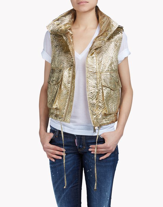 military lurex vest coats & jackets Woman Dsquared2
