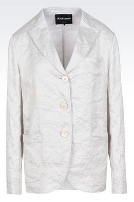 Armani Blazer Donna giacca monopetto in raso stropicciato