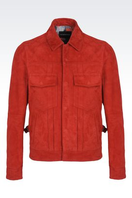 Armani Blouson Uomo giacca in suede