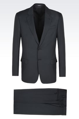 Armani Suits Men soft pure wool jacquard suit