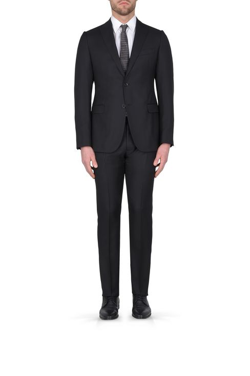 Armani Collezioni Men TWO-BUTTON WOOL AND SILK SUIT, Virgin Wool ...
