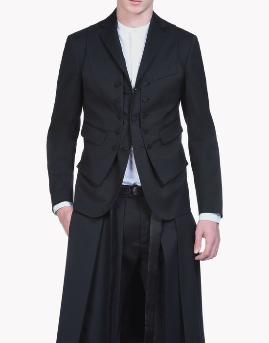 wool vest layered blazer coats & jackets Man Dsquared2