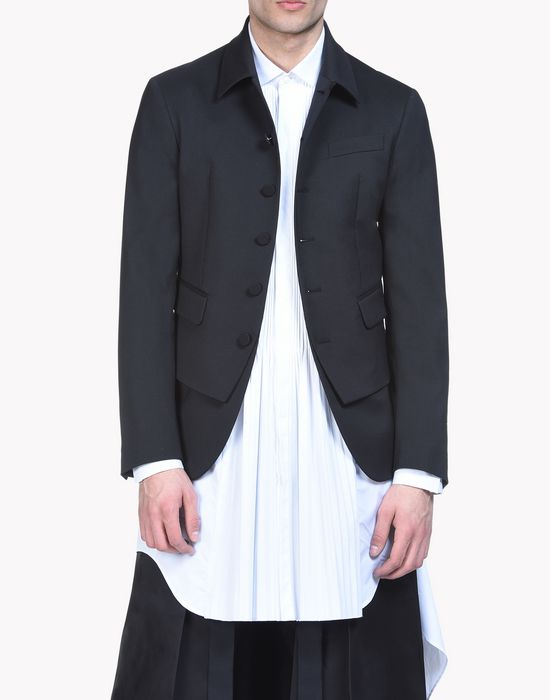 wool vest jacket coats & jackets Man Dsquared2