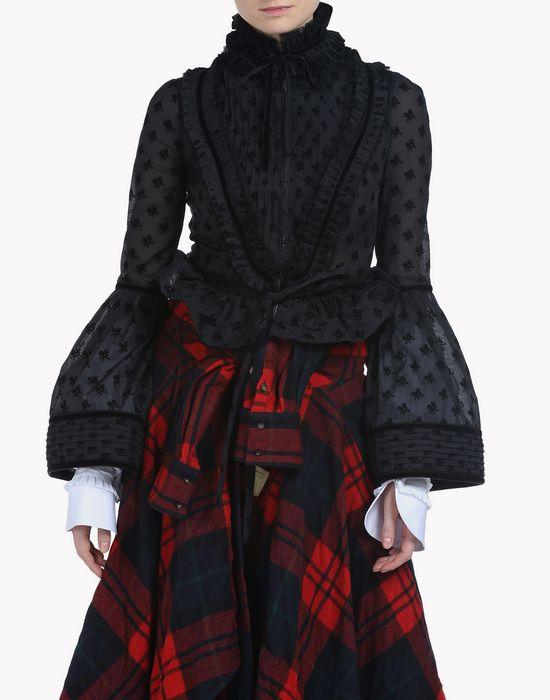 ruffle-trimmed bell sleeve jacket mäntel & jacken Damen Dsquared2