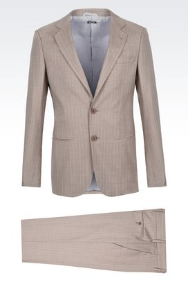 Armani Suits Men soho wool and silk suit
