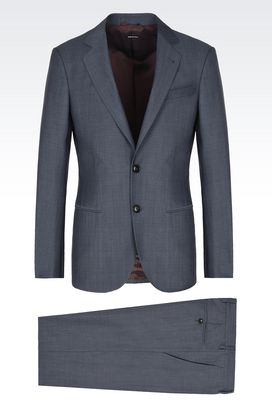 Armani Suits Men soho pure wool suit