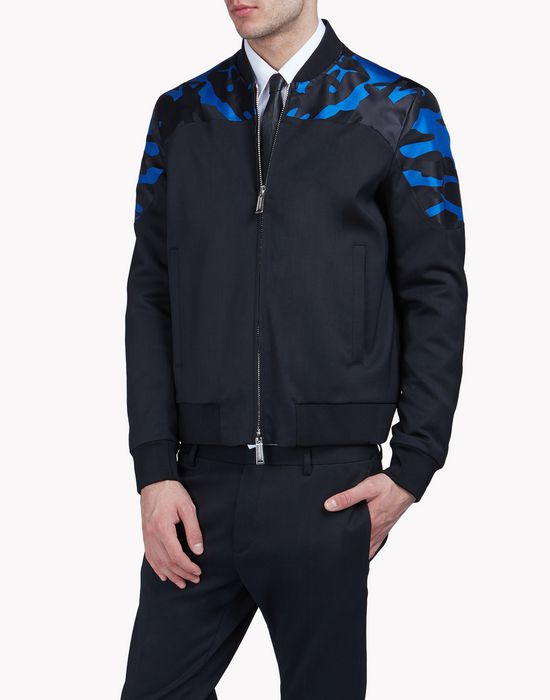 camouflage-trimmed bomber jacket coats & jackets Man Dsquared2