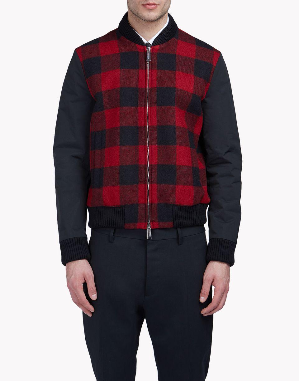 buffalo check bomber jacket coats & jackets Man Dsquared2