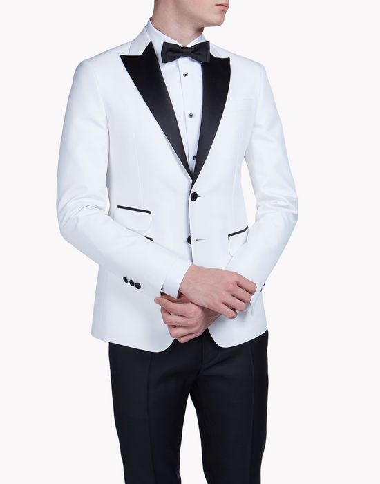 satin-trimmed london tux jacket mäntel & jacken Herren Dsquared2