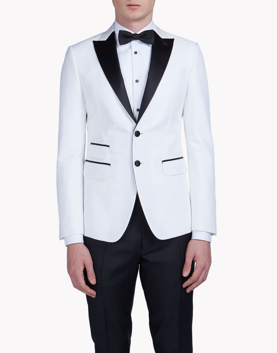satin-trimmed london tux jacket coats & jackets Man Dsquared2
