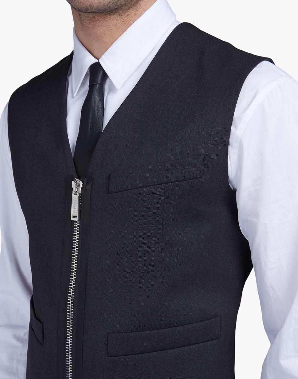 wool zipped vest coats & jackets Man Dsquared2