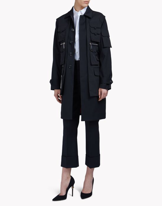 multi-pocket wool coat coats & jackets Woman Dsquared2