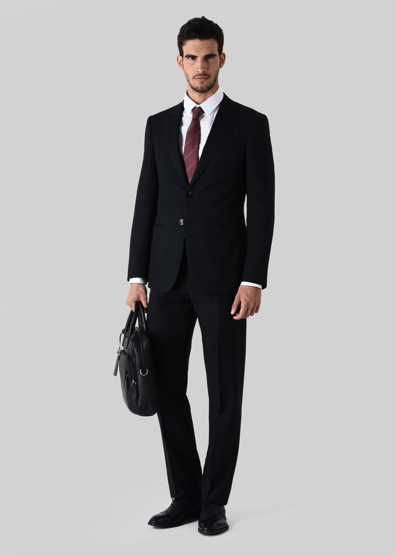 TRADER BLU PURE WOOL SUIT: Suits Men by Armani - 0
