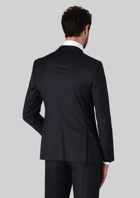 TRADER BLU PURE WOOL SUIT: Suits Men by Armani - 4