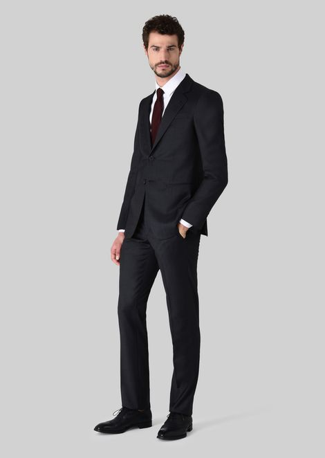 TRADER BLU PURE WOOL SUIT: Suits Men by Armani - 1