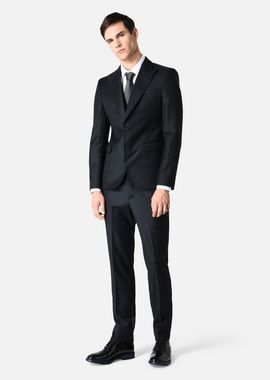 Armani Suits Men suit in pure wool with large peaked lapels