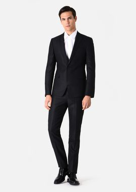 Armani Suits Men suit in woven wool and silk