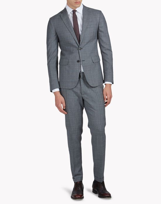 wool check paris suit suits Man Dsquared2