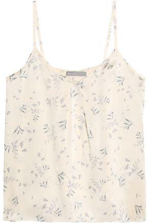 빈스 민소매 블라우스 아이보리 Vince Printed silk top,Ivory