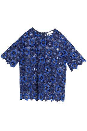 산드로 SANDRO Guipure lace top,Royal blue