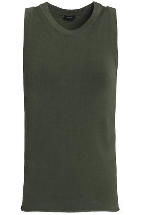 조셉 민소매 탑 그린 JOSEPH Stretch-jersey top,Forest green