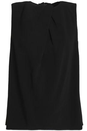 조셉 민소매 탑 블랙 JOSEPH Pleated crepe top,Black