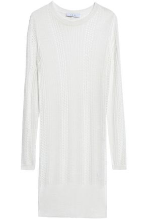 이로 IRO Pointelle-knit mini dress,White