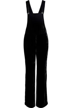 산드로 SANDRO Trudie velvet overalls,Black
