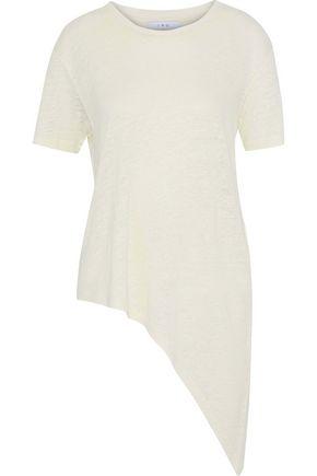 이로 IRO Brasover asymmetric linen T-shirt,Ivory