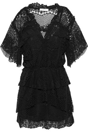 이로 IRO Penny cotton-blend lace mini dress,Black
