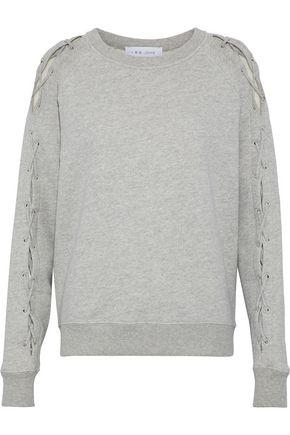 이로 IRO Nakina lace-up cotton sweatshirt,Stone