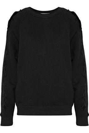 이로 IRO Nakina lace-up cotton sweatshirt,Black