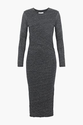 이로 IRO Napinka melange cotton and modal-blend jersey dress,Dark gray