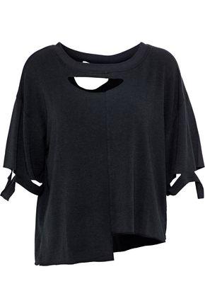 이로 IRO Ijabo cutout modal-blend jersey T-shirt,Black