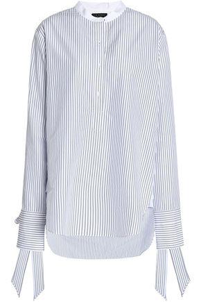 랙앤본 Rag & Bone Striped cotton-poplin shirt,White