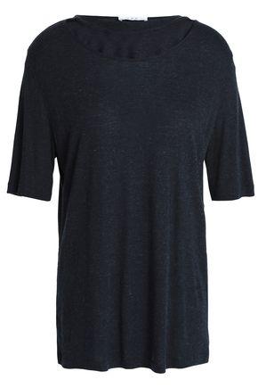 이로 IRO Cutout melange jersey T-shirt,Black